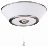 Emerson Euclid LED Brushed Steel Fan Light Kit