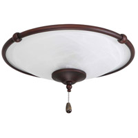 Signature 3 Light Oil Rubbed Bronze Fan Light Kit in Venetian Bronze
