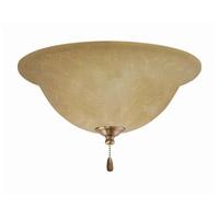 Emerson Amber Parchment 3 Light Antique Brass Fan Light Kit