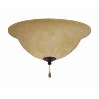 Emerson Amber Parchment 3 Light Golden Espresso Fan Light Kit