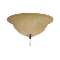 Emerson Amber Parchment LED Antique Pewter Fan Light Kit