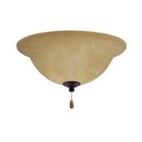Emerson Amber Parchment LED Golden Espresso Fan Light Kit