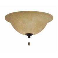 Emerson Amber Parchment 3 Light Venetian Bronze Fan Light Kit