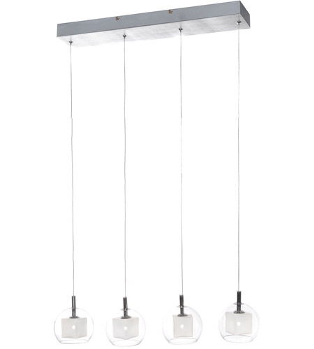 ET2 Nucleus 4 Light Linear Pendant in Brushed Aluminum and Polished Chrome E20056-10 photo