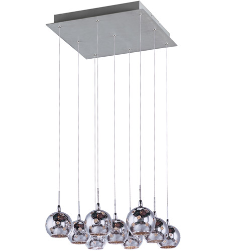 ET2 Starburst 9 Light Pendant in Satin Nickel and Polished Chrome E20106-81 photo