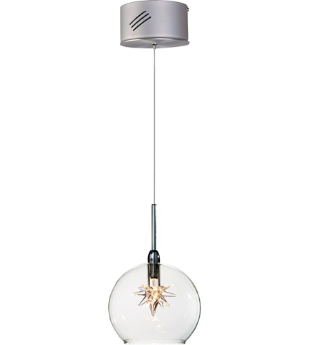 ET2 Starburst 1 Light Mini Pendant in Satin Nickel and Polished Chrome E20108-24 photo
