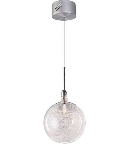 ET2 E20108-79 Starburst 1 Light 4 inch Satin Nickel and Polished Chrome Mini Pendant Ceiling Light in Threaded photo