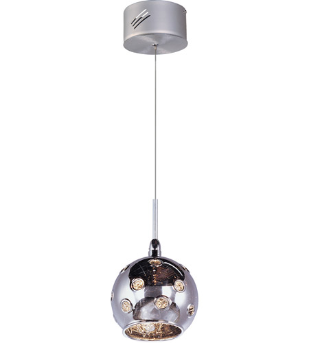 ET2 Starburst 1 Light Mini Pendant in Satin Nickel and Polished Chrome E20108-81 photo