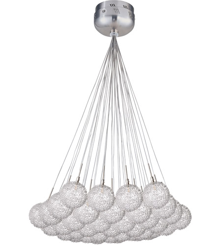 ET2 Starburst 37 Light Pendant in Satin Nickel and Polished Chrome E20112-78 photo