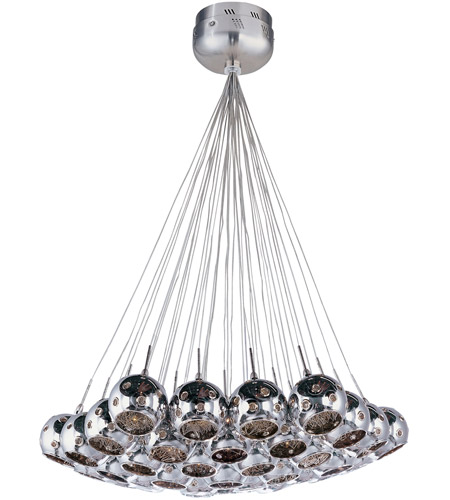 ET2 Starburst 37 Light Pendant in Satin Nickel and Polished Chrome E20112-81 photo
