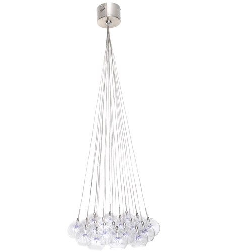 ET2 Starburst 19 Light Pendant in Satin Nickel and Polished Chrome E20113-21 photo
