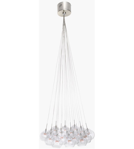 ET2 Starburst 19 Light Pendant in Satin Nickel and Polished Chrome E20113-25 photo