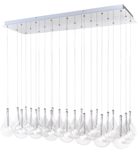 ET2 E20118-18 Larmes 24 Light 12 inch Polished Chrome Pendant Ceiling Light photo