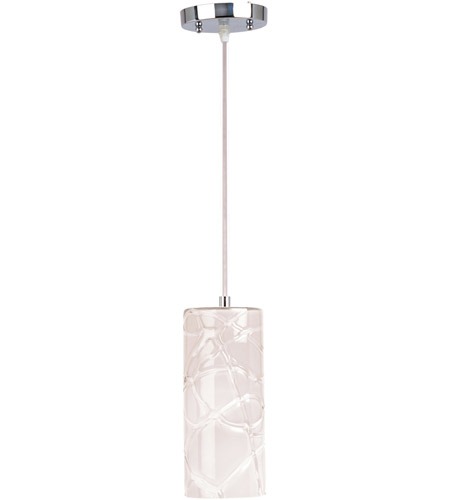 ET2 E20219-01 Seep 1 Light 5 inch Polished Chrome Mini Pendant Ceiling Light in White photo