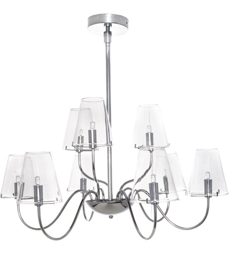 ET2 Chic 9 Light Chandelier in Polished Chrome E20293-10 photo