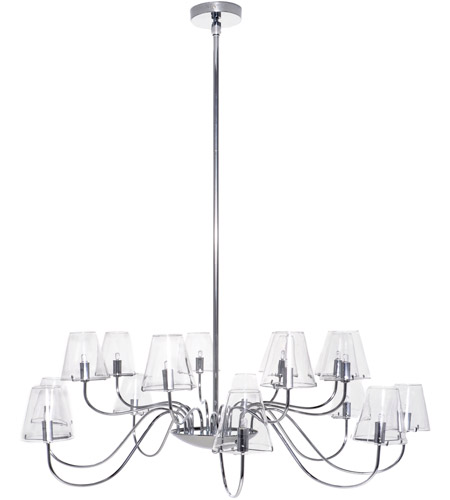 ET2 Chic 16 Light Chandelier in Polished Chrome E20294-10 photo