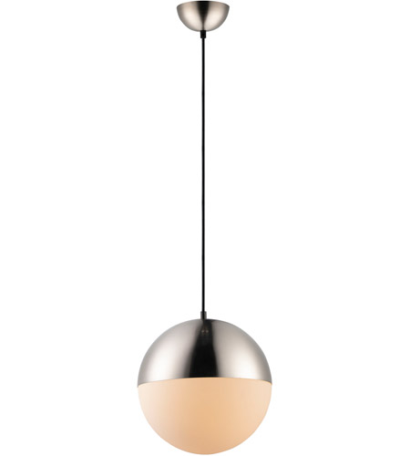 ET2 E20366-92SN Half Moon LED 12 inch Satin Nickel Single Pendant Ceiling Light photo thumbnail