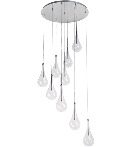 ET2 E20515-18PC Larmes LED LED 22 inch Polished Chrome Single Pendant Ceiling Light photo