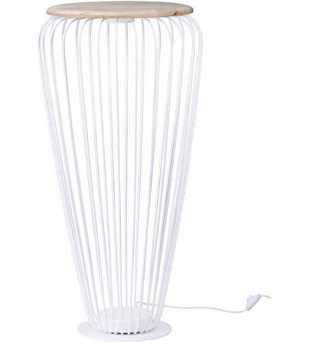 ET2 E20576-WTNW Cage 40 inch 7.20 watt White and Navaho White Floor Lamp Portable Light photo