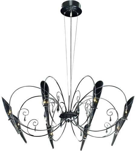 ET2 Belleza 8-Light Chandelier in Satin Nickel and Polished Chrome E20716-18 photo