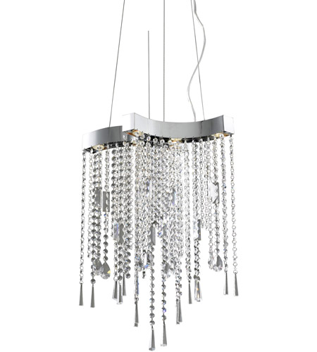 ET2 Crystal Sensation 6 Light Pendant in Polished Chrome E20802-20 photo