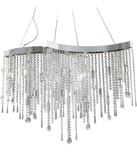 ET2 Crystal Sensation 10 Light Pendant in Polished Chrome E20804-20 photo
