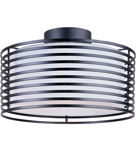 ET2 Andretti 1 Light Flush Mount in Black E20820-02 photo