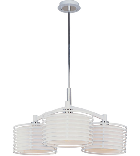 ET2 Andretti 3-Light Pendant in Polished Chrome and White E20823-01 photo