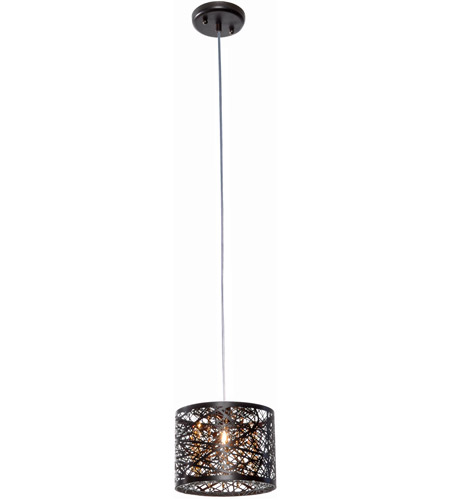 ET2 E21306-10BZ Inca 1 Light 8 inch Bronze Mini Pendant Ceiling Light in Cognac, Without Bulb photo