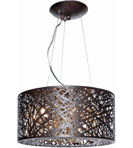 ET2 E21309-10BZ/BUL Inca LED 16 inch Bronze Pendant Ceiling Light in With Bulb, Cognac photo