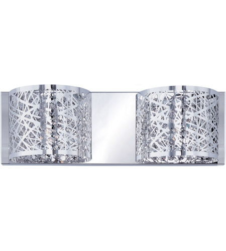 ET2 E21315-10PC/BUL Inca LED 16 inch Polished Chrome Bath Light Wall Light in Clear/White, With Bulb, 4.25 in.,  2 Light photo