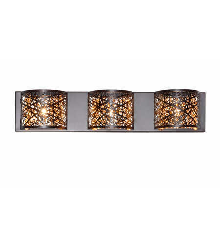 ET2 E21316-10BZ Inca 3 Light 24 inch Bronze Bath Light Wall Light in Clear/White, Without Bulb, 4.25 in. photo