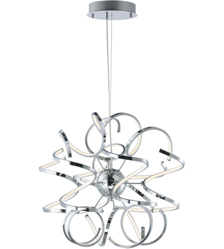 ET2 E21411-PC Chaos LED 24 inch Polished Chrome Single Pendant Ceiling Light photo
