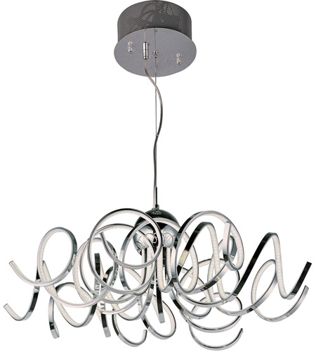Et2 e21415 pc chaos led 34 inch polished chrome pendant ceiling light aloadofball Choice Image