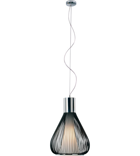 ET2 Hydrox 1 Light Pendant in Polished Chrome and Black E21501-09BK photo