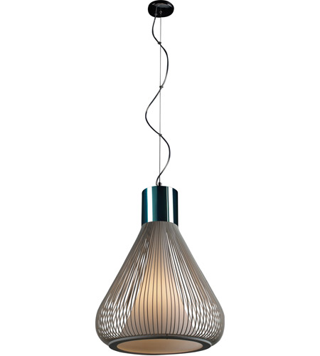 et2 e2150209wt hydrox 1 light 18 inch polished chrome and white pendant ceiling light