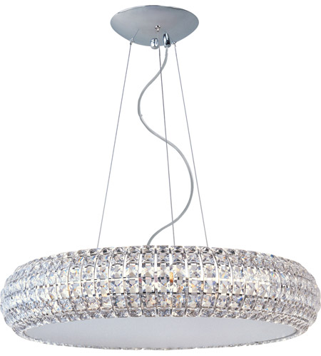 ET2 E21805-20PC Bijou 10 Light 26 inch Polished Chrome Pendant Ceiling Light photo
