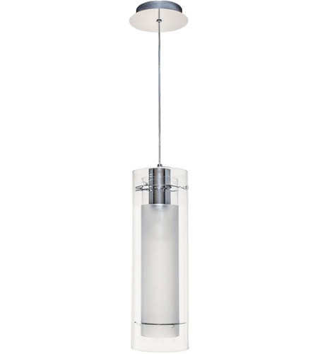 ET2 Frost 1 Light Pendant in Polished Chrome E22000-10 photo