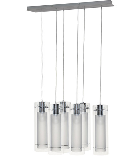 ET2 E22002-10 Frost 6 Light 28 inch Polished Chrome Linear Pendant Ceiling Light photo
