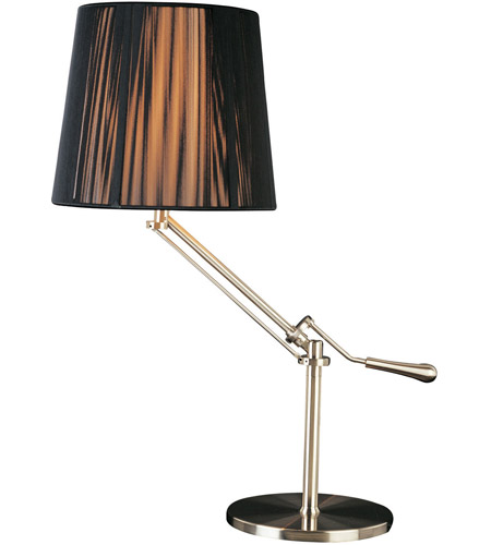 ET2 Tuxedo 1 Light Table Lamp in Satin Nickel E22020-30 photo