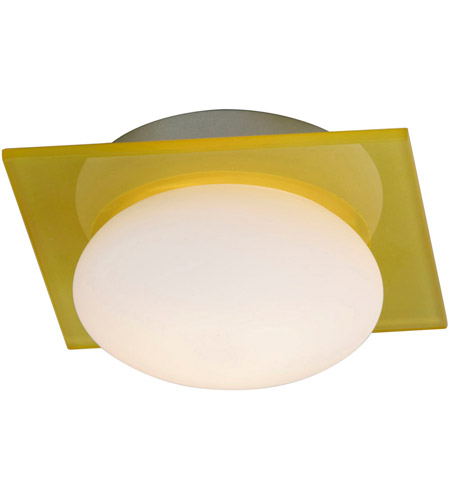 ET2 E22022-32 Buttons 1 Light 6 inch Brushed Aluminum Wall Sconce Wall Light in Yellow/White photo