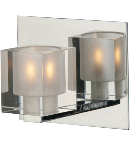 ET2 E22031-18 Blocs 1 Light 6 inch Polished Chrome Bath Light Wall Light in 6 in. photo