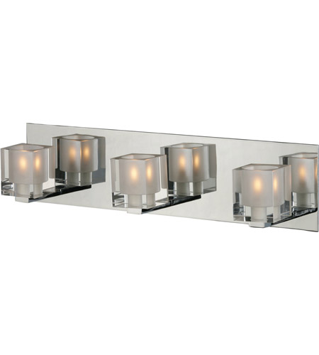 ET2 E22033-18 Blocs 3 Light 20 inch Polished Chrome Bath Light Wall Light in 19.5 in. photo