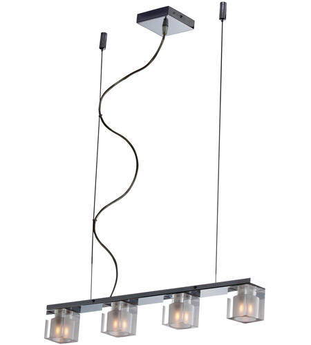 ET2 E22035-18 Blocs 4 Light 24 inch Polished Chrome Linear Pendant Ceiling Light photo