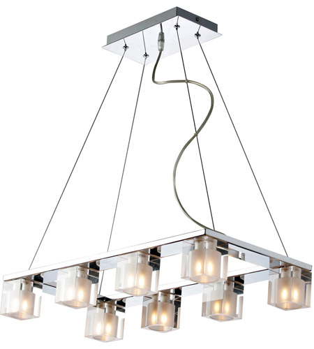 ET2 E22036-18 Blocs 8 Light 12 inch Polished Chrome Pendant Ceiling Light photo