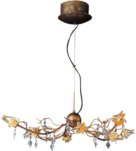 ET2 Contemporary Lighting Flora 8-Light Chandelier in Brushed Bronze E22051-20 photo