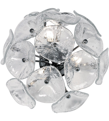 ET2 E22091-28 Fiori 3 Light 14 inch Polished Chrome Wall Sconce Wall Light in Clear Murano photo