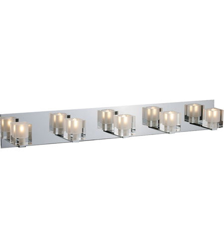 ET2 E22171-18 Blocs 5 Light 36 inch Polished Chrome Bath Light Wall Light in 35.5 in. photo