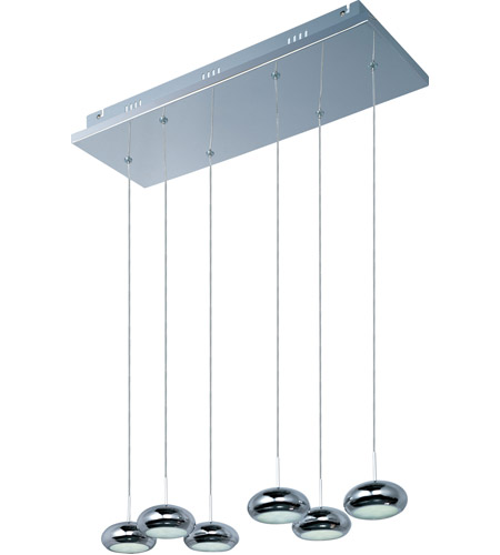 ET2 E22256-PC Dial LED 24 inch Polished Chrome Linear Pendant Ceiling Light photo