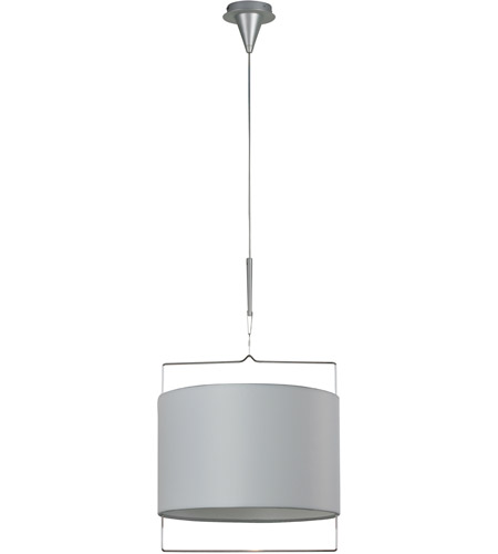 ET2 E22310-01 Passion 1 Light 18 inch Satin Nickel Pendant Ceiling Light in White photo